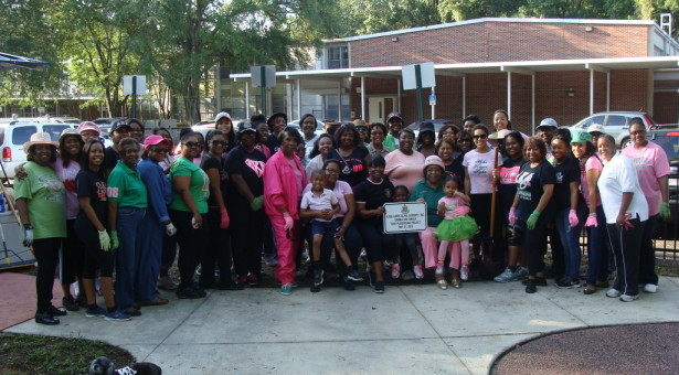 AKA's Mobilize to Beautify Youth Playground