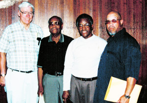 Shown with fellow history makers (L-R) Dr. James Crooks, Dr. Wendell Holmes, Alton Yates and Rodney Hurst.