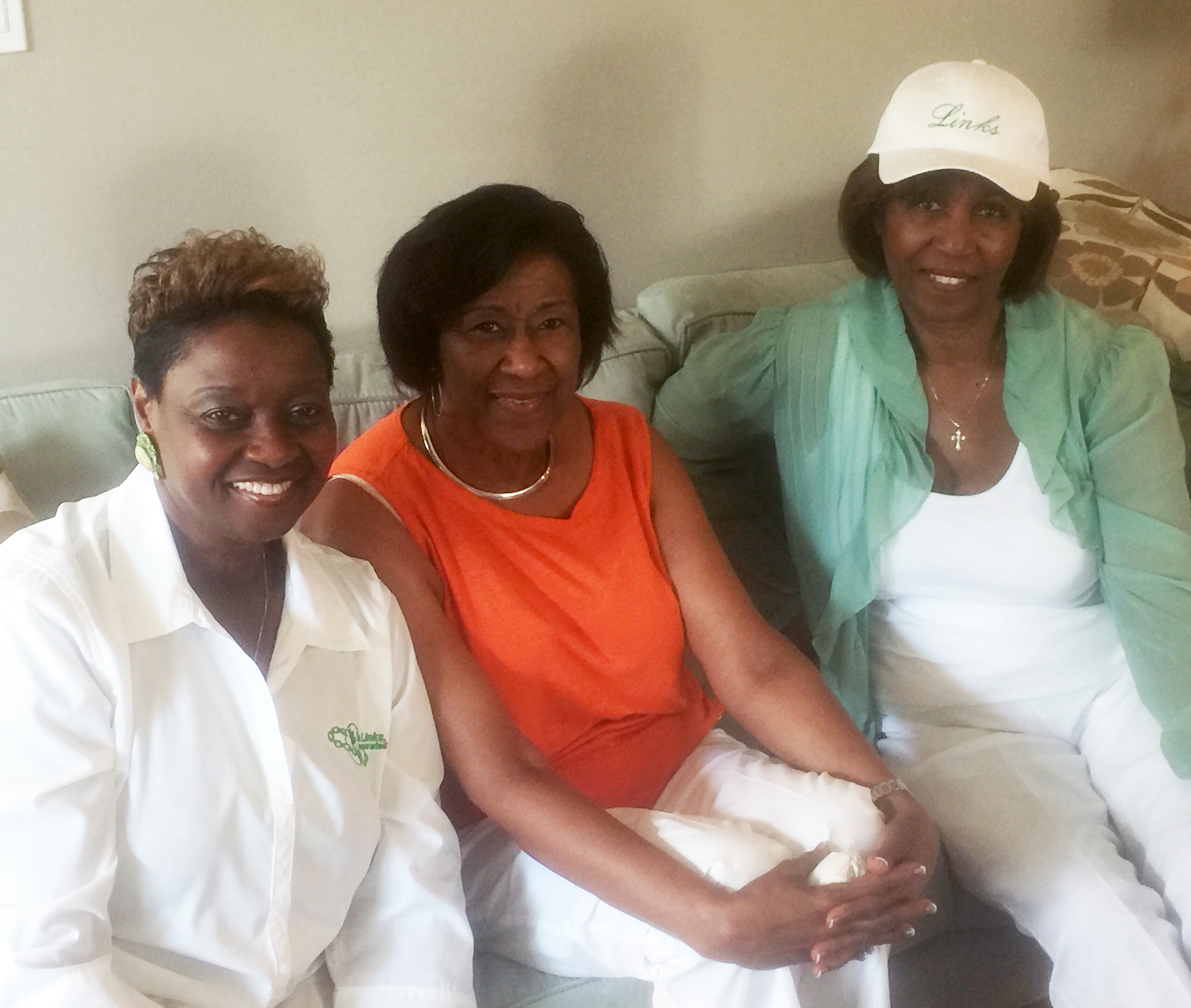Dr. Barbara Darby, Mary Brown and Chapter Vice President Ruth Waters.