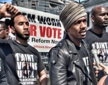 Nick Cannon Leads BLM Protest Outside RNC Accusing Both Parties of 'taking our votes for granted'