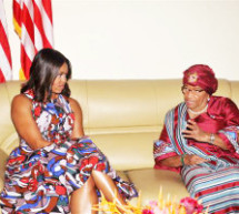 Michelle Obama, Daughters, and Mother Land in Liberia for Visit to Stress Education for Girls
