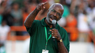 "On September 17, at The 5th Quarter Classic game in Mobile Alabama, Interim President Dr. Larry Robinson delivers the inspirational ""Rattler Charge."""