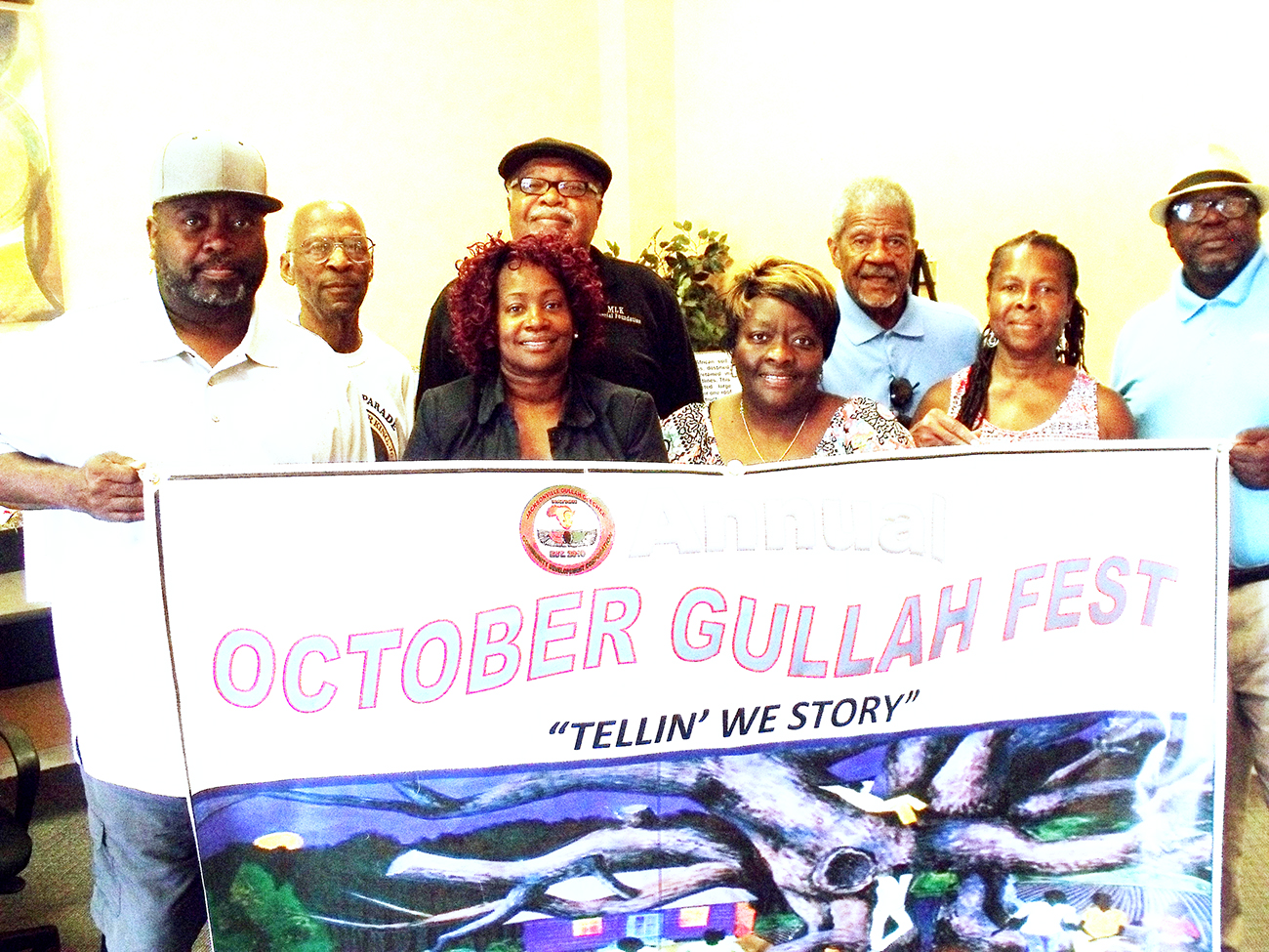 Pictured following avrecent meeting and planning session are members of the Gullah Geechee CDC and Dr. Martin L. King Memorial Foundation. (FRONT) L-R: Raymond Mc Nair, Darlene Neal, Sandra Morene-Chairman, Gullah Geechee CDC, Norma Sawyer and Eugene Francis. (BACK): Andr'e X Neal, Gary Thomas-Chairman and Robert Flowers. Andrea X photo