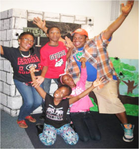 Pictured having fun are festival attendees: Lashe Hicks, Daffani Williams, Tiffani Richardson, Jeremiah Richardson and James Hicks.