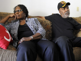 Sarah Collins Rudolph and husband George Rudolph discuss their worries about the upcoming Donald Trump presidency in their home in Birmingham, Ala., on Wednesday, Nov. 9, 2016. Sarah Rudolph survived a church bombing that killed her sister and three other black girls in Alabama in 1963, and neither she nor her husband is happy about the election outcome. (AP Photo)