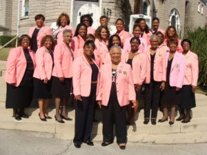 The chapter poses on the church steps after the event.