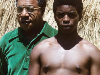 Roots author Alex Haley and star Levar Burton