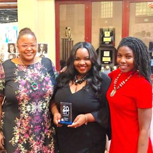 Shown right at the Top 20 Under 40 event are (L-R) Melissa Adams Christa Merix and Carla Jones.