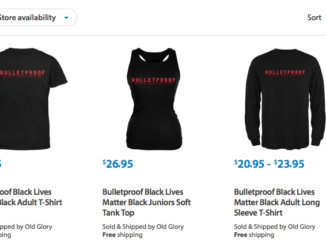"Walmart will no longer sell T-shirts that say ""Bulletproof: Black Lives Matter"" on its website, the retailer announced, after receiving a complaint from the Fraternal Order of Police."