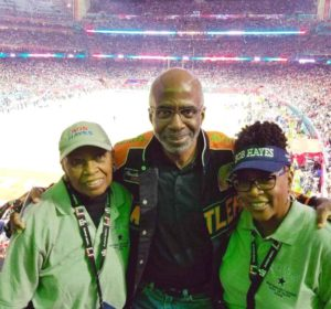 On Sunday, Feb. 5, FAMU Interim President Larry Robinson, Ph.D., and Bob Hayes' sisters Lucille Hester and Georgette Sanders celebrated his legacy and impact at NRG Stadium.