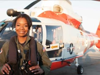 La'Shanda Holmes endured abuse and neglect to later become the first African-American female helicopter pilot for the U.S. Coast Guard. PHOTO: Courtesy/U.S. Coast Guard