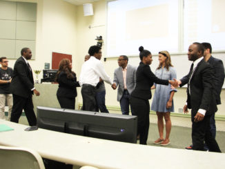 FAMU student participants in the AC3 meet the judges of the popular technology contest.