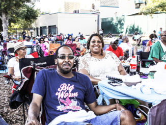 Shown enjoying the festival are Louis Rollins and Patrice McClendon