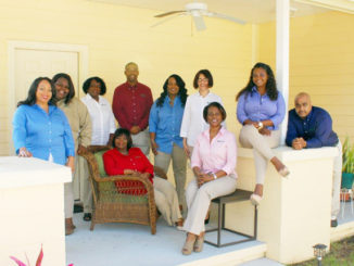 Wealth Watchers Team: l-r Carrie Davis, Kiana Harper, Jo Jones, Ed Gaston, Alyce Denson, Iris Rodriquez, Shantez Robinson, Christian Reis, Seated: Jean Reddick and Monique Terry