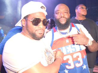 Organizer Frank Marshall with recoding artist Rick Ross