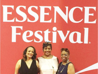 Shown above in New Orleans enjoying the festival as first timers this year were local residents Venetia Steward and friends Adrienne Martin and Katrina Clayton
