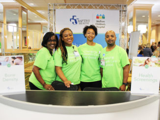 Shown l - r: Baptist Health, Community Health Volunteers:  Melitta Mitchell, Alana Stephens, Shantelle Armstrong, Paul Cook