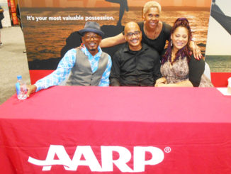 Shown is Jacksonville's Shanette Dorsey (3rd right) with Living Single actors (-R) T.C. Carson, John Henton and Kim Coles