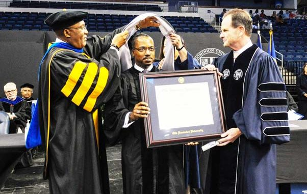 Native Reuben E  Brigety, II Earns Honorary Doctorate from Old