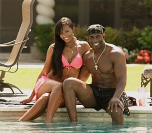 Pilar and Deion in happier times