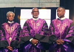 Bishop Michael Mitchell (center)