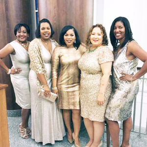 Jacksonville Chapter members on hand for the Golden anniversary included Terri Stepter, Heather Blume-Watson, Kelly Toaston,Candace Thompson and Kia Kemp.