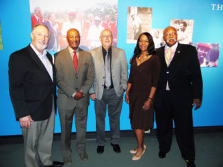 Shown l - r are event panelist and moderators: Dr. Tony Parker, Pete McDaniel Garry Smits, Pepper Peete and Arthur Johnson.