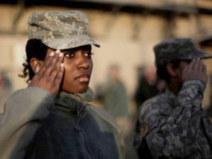 black-female-solider