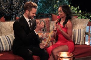 """THE BACHELOR - Episode 2101 - What do a dolphin-loving woman, a successful businesswoman who runs her parents multi-million -dollar flooring empire;, a bachelorette, who is hiding a big secret about her past involving Nick, and a no-nonsense Southern belle, who has Nick in her cross-hairs for a big country wedding, all have in common? They all have their sights set on making the Bachelor, Nick Viall, their future husband when the much-anticipated 21th edition of ABC's hit romance reality series, """"The Bachelor,"""" premieres, MONDAY, JANUARY 2 (8:00-10:01 p.m., ET), on the ABC Television Network. (Rick Rowell/ABC via Getty Images) NICK VIALL, RACHEL"""