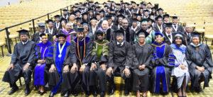 The inaugural graduating class