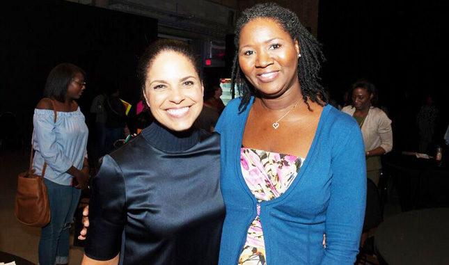 Soledad O'Brien with local entrepreneur Nicole Lester