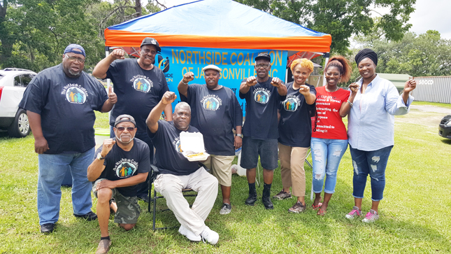 Pictured l-r are members James Davis, Ron Neal, Maury Williams, Essey Howard, Alpha Gaines, Shevonica Howell, Tina Davis. Seated is Joe Ross and Ben Frazier.