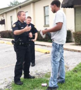 Officer Bolen with Shipman