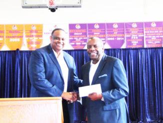 Shown is U.S. Rep. Al Lawson (FL-5) and EWC President Nathaniel Glover.