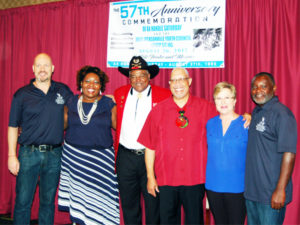 Hundreds gathered to commemorate the 57th anniversary of Axe Handle Saturday - a day that changed race relations in Jacksonville's history. Presenters included Dr. Chris Jamison, Ritz Administrator, Adonica Toler, Joe Tillmon of the Buffalo Soldiers, organizer Rodney Hurst, Nancy Broner of OneJax and Dr. Rudy Jamison.