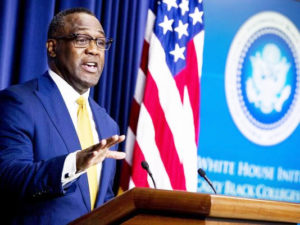 Johnathan Holifield speaks during the White House Summit on Historically Black Colleges and Universities.