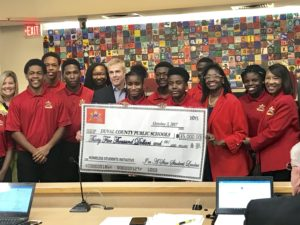 I'm A Star teens  presented a check for $35,000 to Duval County Public Schools
