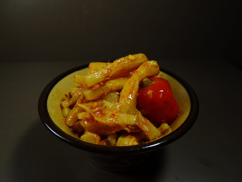 Dalle chili and bamboo shoot pickle