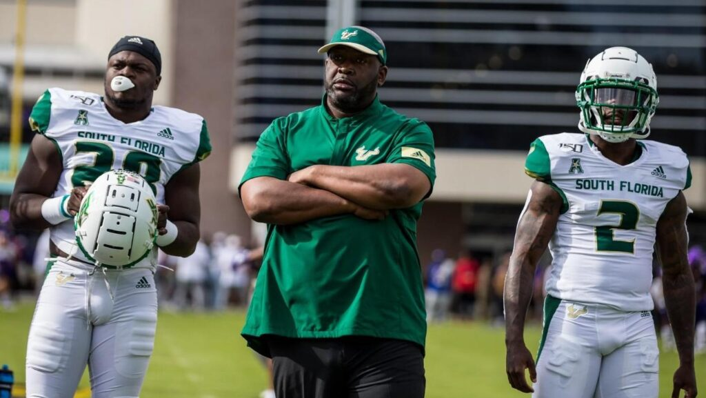 Shaun King, one of the most decorated football players in Tulane University history, now coaches quarterbacks and running backs at the University of South Florida.
